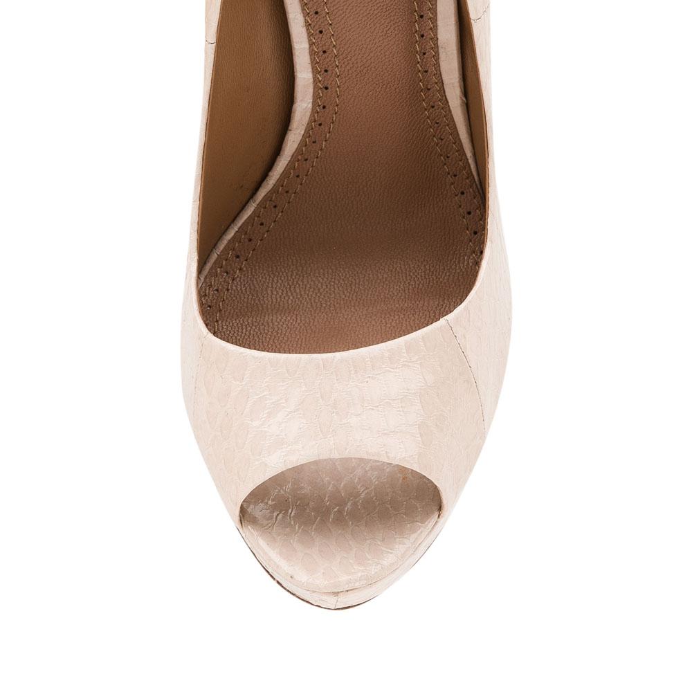 Туфли на каблуке CorsoComo (Корсо Комо) Туфли из лакированной кожи змеи с открытым мыском