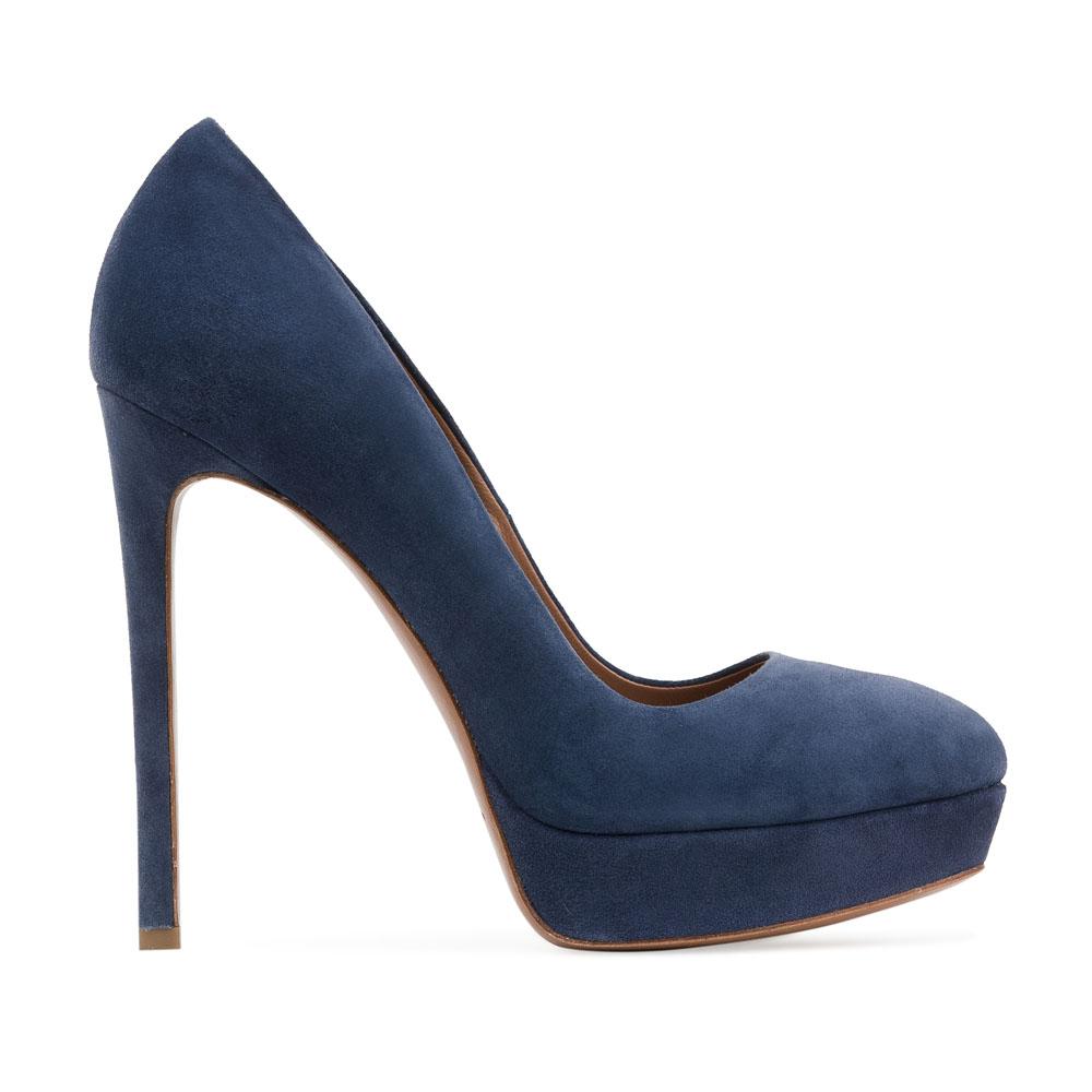 Туфли из замши цвета темного моря на высоком каблукеТуфли женские<br><br>Материал верха: Замша<br>Материал подкладки: Кожа<br>Материал подошвы: Кожа<br>Цвет: Синий<br>Высота каблука: 13см<br>Дизайн: Италия<br>Страна производства: Китай<br><br>Высота каблука: 13 см<br>Материал верха: Замша<br>Материал подошвы: Кожа<br>Материал подкладки: Кожа<br>Цвет: Синий<br>Пол: Женский<br>Вес кг: 0.52000000<br>Выберите размер обуви: 38.5**