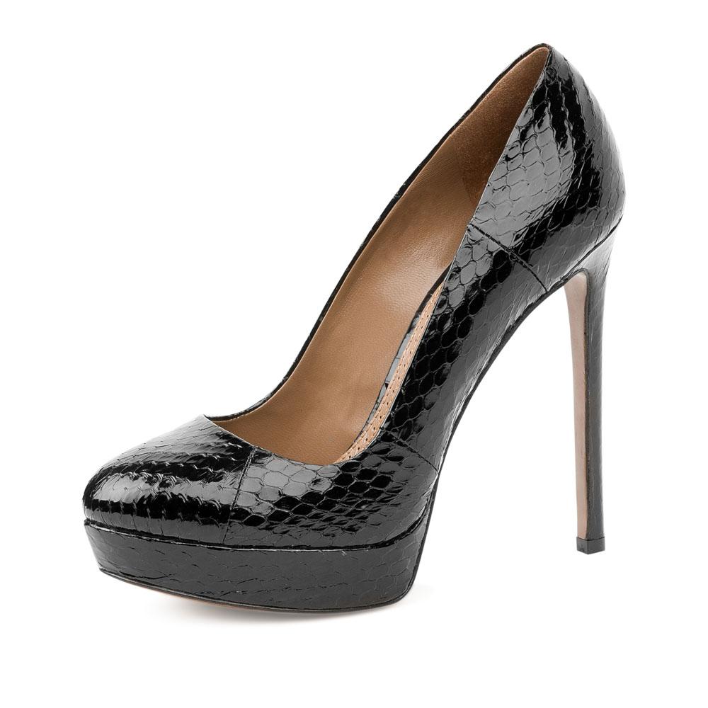 Туфли на каблуке CorsoComo (Корсо Комо) 17-665-02-29S-275 к.п. Туфли жен кожа черн.