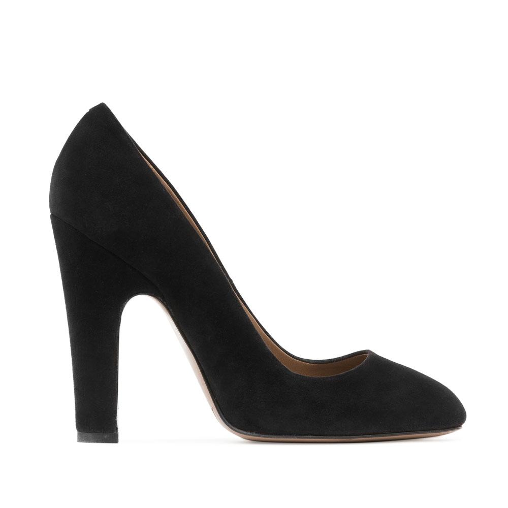 Туфли из замши черного цвета на устойчивом каблукеТуфли женские<br><br>Материал верха: Замша<br>Материал подкладки: Кожа<br>Материал подошвы: Кожа<br>Цвет: Черный<br>Высота каблука: 12 см<br>Дизайн: Италия<br>Страна производства: Китай<br><br>Высота каблука: 12 см<br>Материал верха: Замша<br>Материал подошвы: Кожа<br>Материал подкладки: Кожа<br>Цвет: Черный<br>Пол: Женский<br>Вес кг: 0.53000000<br>Размер обуви: 36*