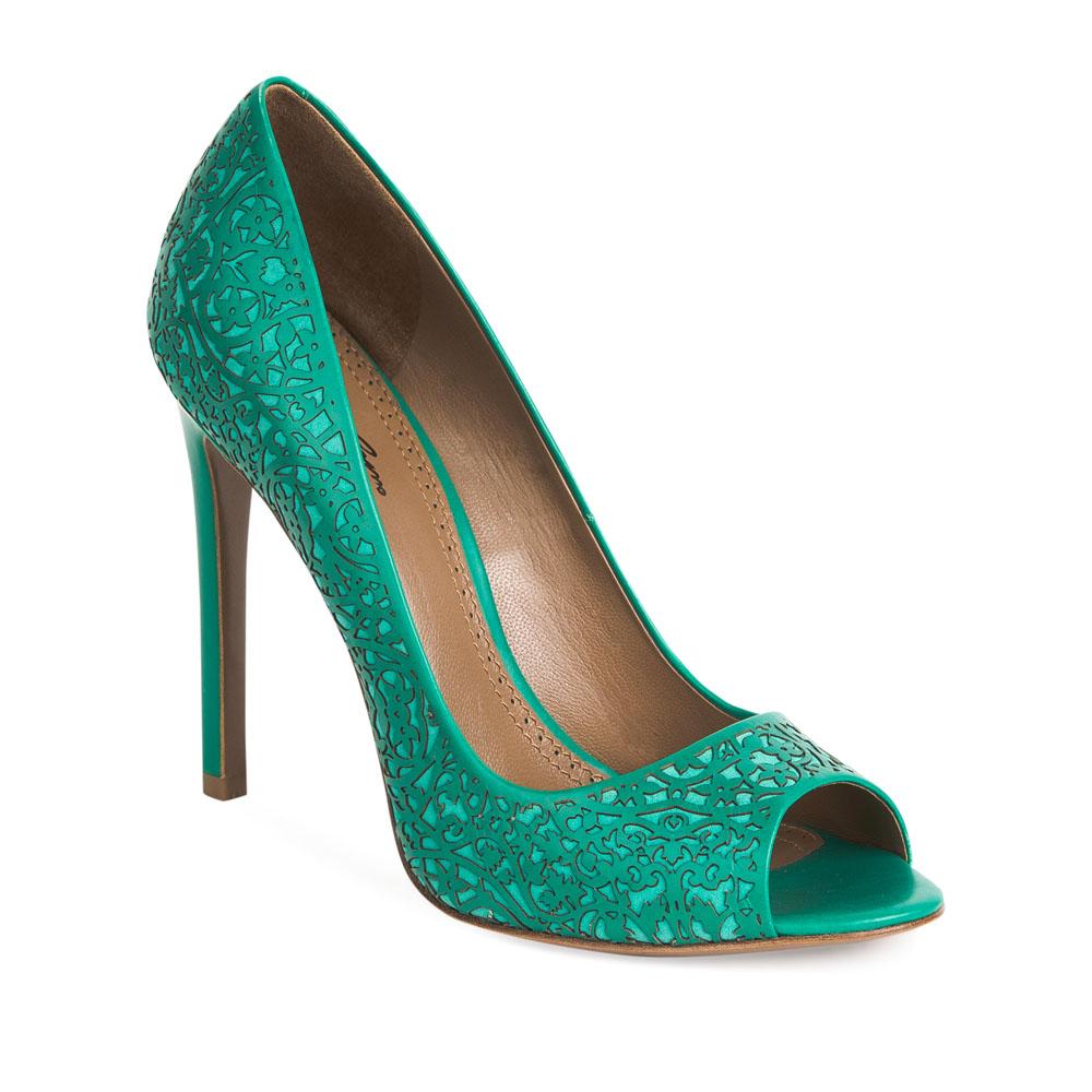 Туфли на каблуке CorsoComo (Корсо Комо) 17-665-07-17B-435 к.п. Туфли жен кожа зелен.