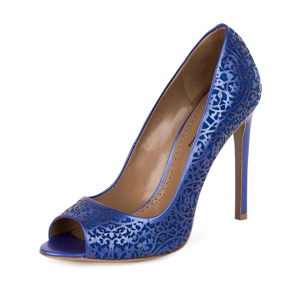 Туфли на каблуке CorsoComo (Корсо Комо) 17-665-07-17B-445 к.п. Туфли жен кожа син.