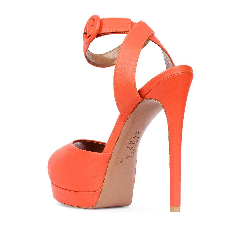 Женские босоножки CorsoComo (Корсо Комо) 17-665-10-115A-15 к.п. Туфли жен кожа оранж.