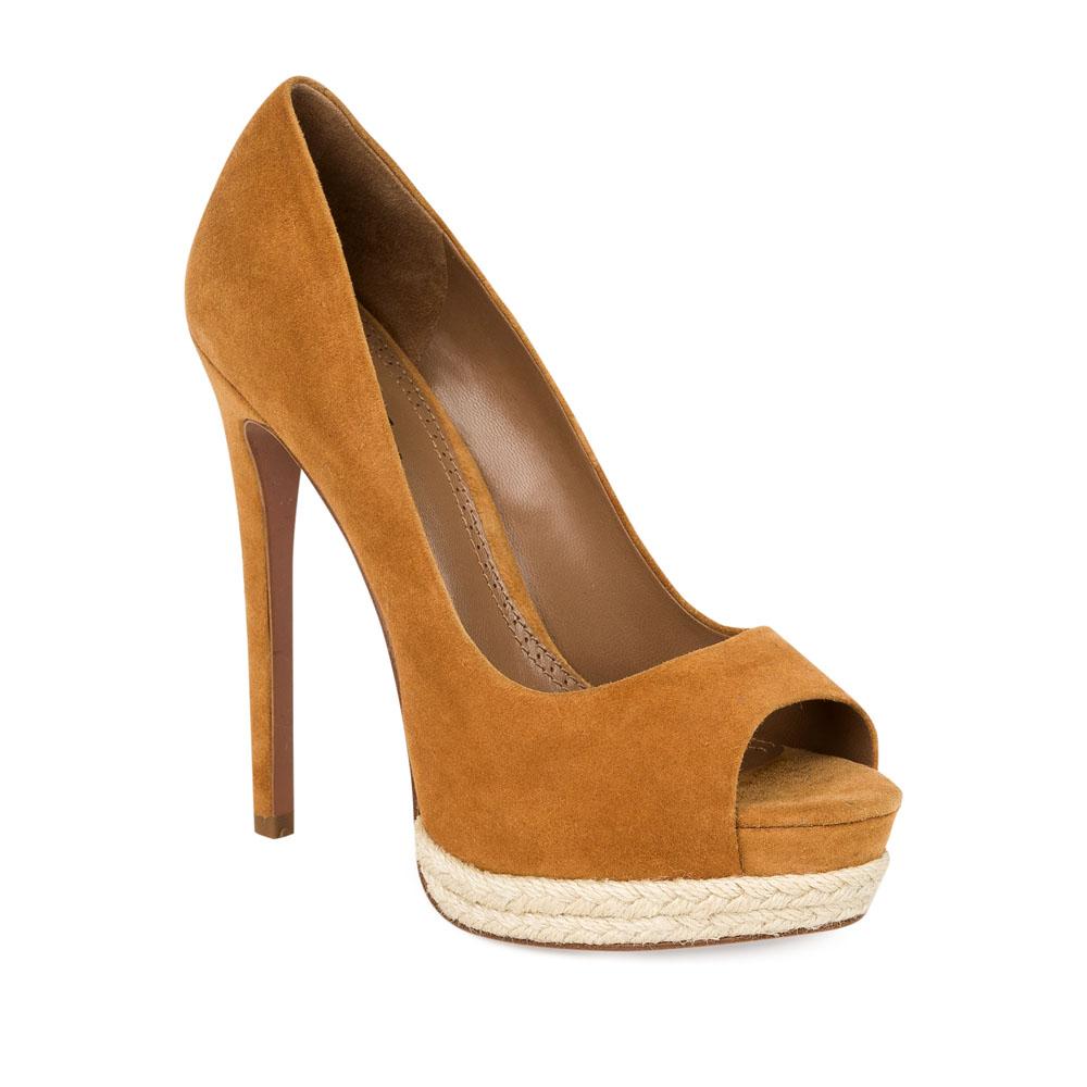 Туфли на каблуке CorsoComo (Корсо Комо) 17-665-10-58A-65 к.п. Туфли жен велюр беж.