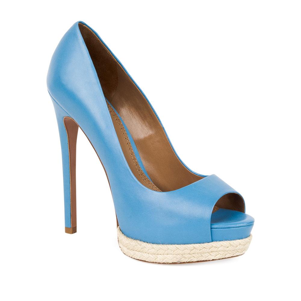 Туфли на каблуке CorsoComo (Корсо Комо) 17-665-10-58A-85 к.п. Туфли жен кожа син.