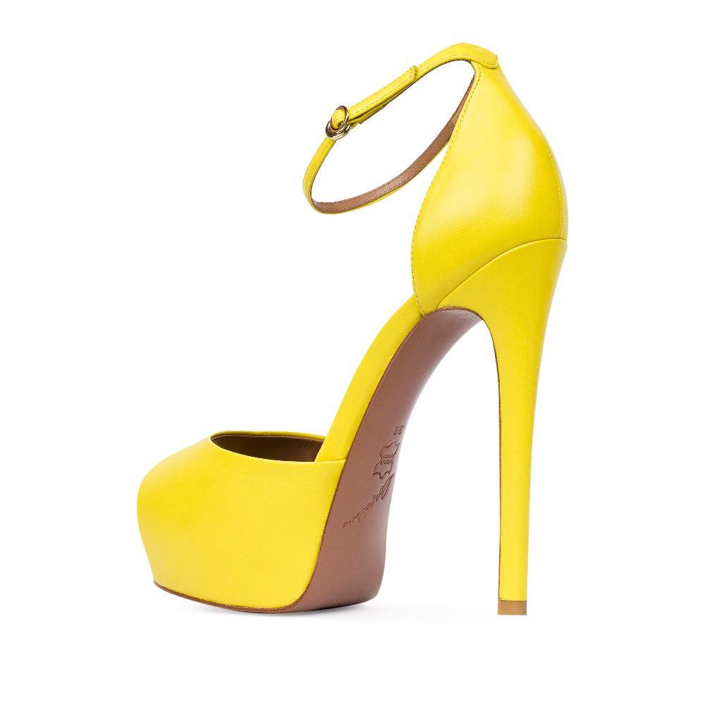 Женские босоножки CorsoComo (Корсо Комо) 17-665-17-117A-55 к.п. Туфли жен кожа жёлт.