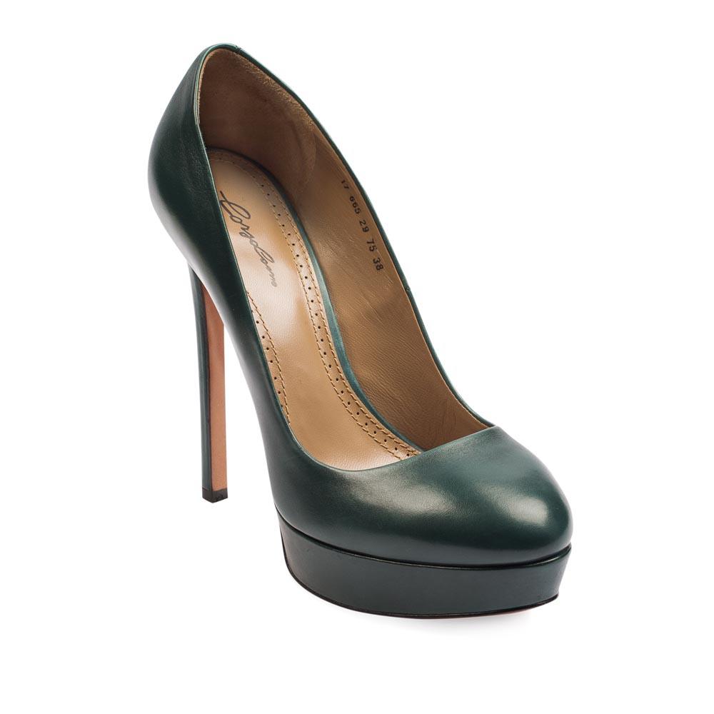Туфли на каблуке CorsoComo (Корсо Комо) 17-665-29-75 к.п. Туфли жен кожа зел.