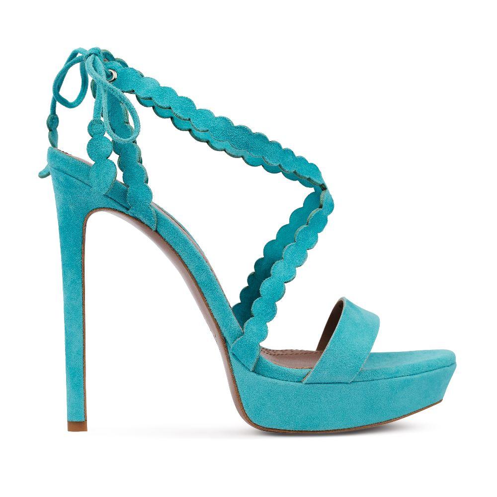 Босоножки из замши голубого цвета на высоком каблукеБосоножки женские<br><br>Материал верха: Замша<br>Материал подкладки: Кожа<br>Материал подошвы: Кожа<br>Цвет: Голубой<br>Высота каблука: 13см<br>Дизайн: Италия<br>Страна производства: Китай<br><br>Высота каблука: 13 см<br>Материал верха: Замша<br>Материал подошвы: Кожа<br>Материал подкладки: Кожа<br>Цвет: Голубой<br>Вес кг: 1.00000000<br>Размер: 38