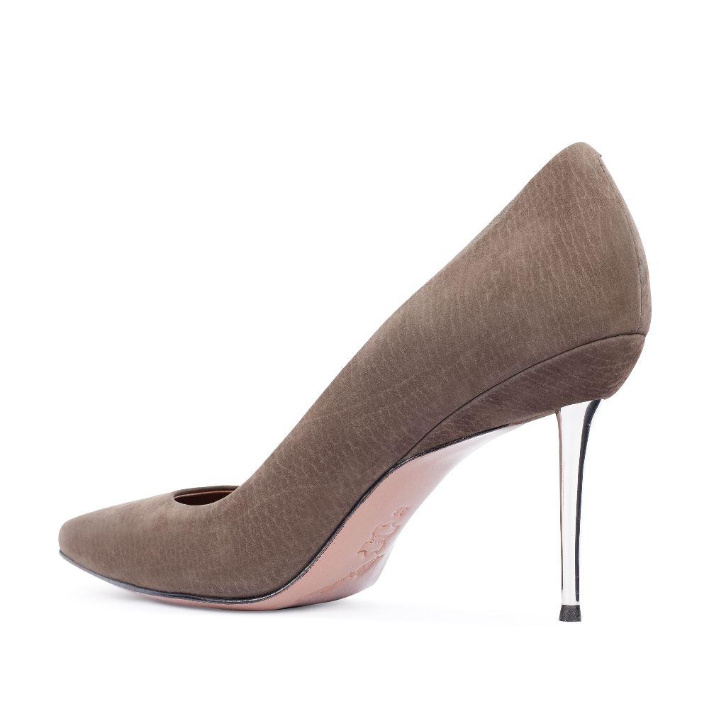 Туфли на каблуке CorsoComo (Корсо Комо) 17-670-01-18-355 к.п. Туфли жен нубук зелён.