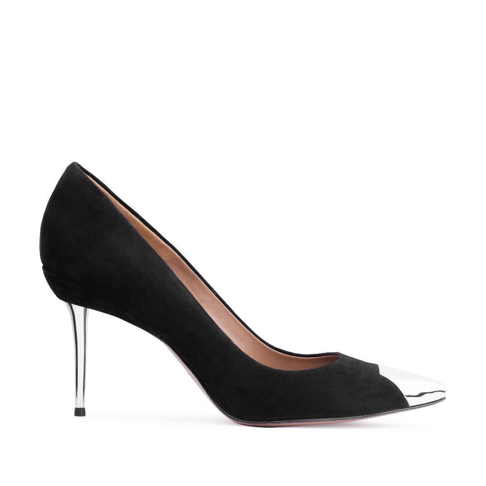 Туфли-лодочки из замши черного цвета на среднем каблукеТуфли<br><br>Материал верха: Замша<br>Материал подкладки: Кожа<br>Материал подошвы: Кожа<br>Цвет: Черный<br>Высота каблука: 8 см<br>Дизайн: Италия<br>Страна производства: Китай<br><br>Высота каблука: 8 см<br>Материал верха: Замша<br>Материал подкладки: Кожа<br>Цвет: Черный<br>Пол: Женский<br>Вес кг: 460.00000000<br>Выберите размер обуви: 39