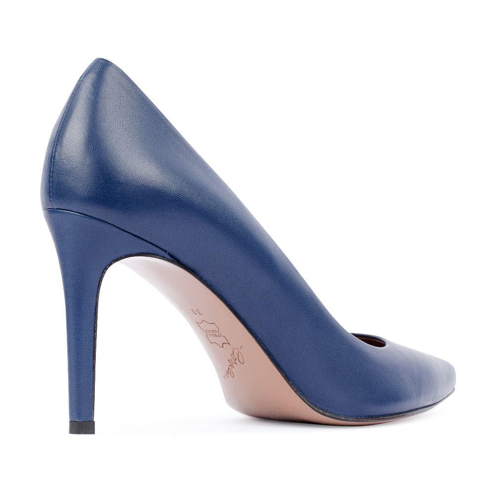 Женские туфли CorsoComo (Корсо Комо) Туфли-лодочки из кожи синего цвета