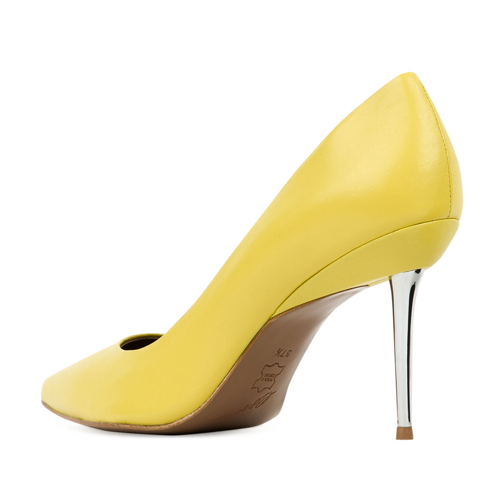 Туфли на каблуке CorsoComo (Корсо Комо) 17-670-18-105G6 к.п. Туфли жен кожа желт.