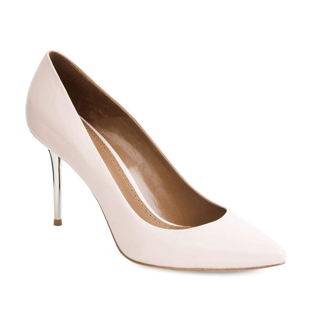 Туфли на шпильке CorsoComo (Корсо Комо) Кожаные туфли-лодочки сливочного цвета на металлическом каблуке