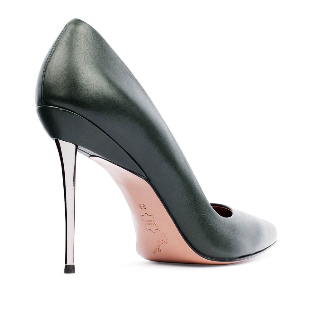 Туфли на каблуке CorsoComo (Корсо Комо) 17-675-01-02-555 к.п. Туфли жен кожа зелен.