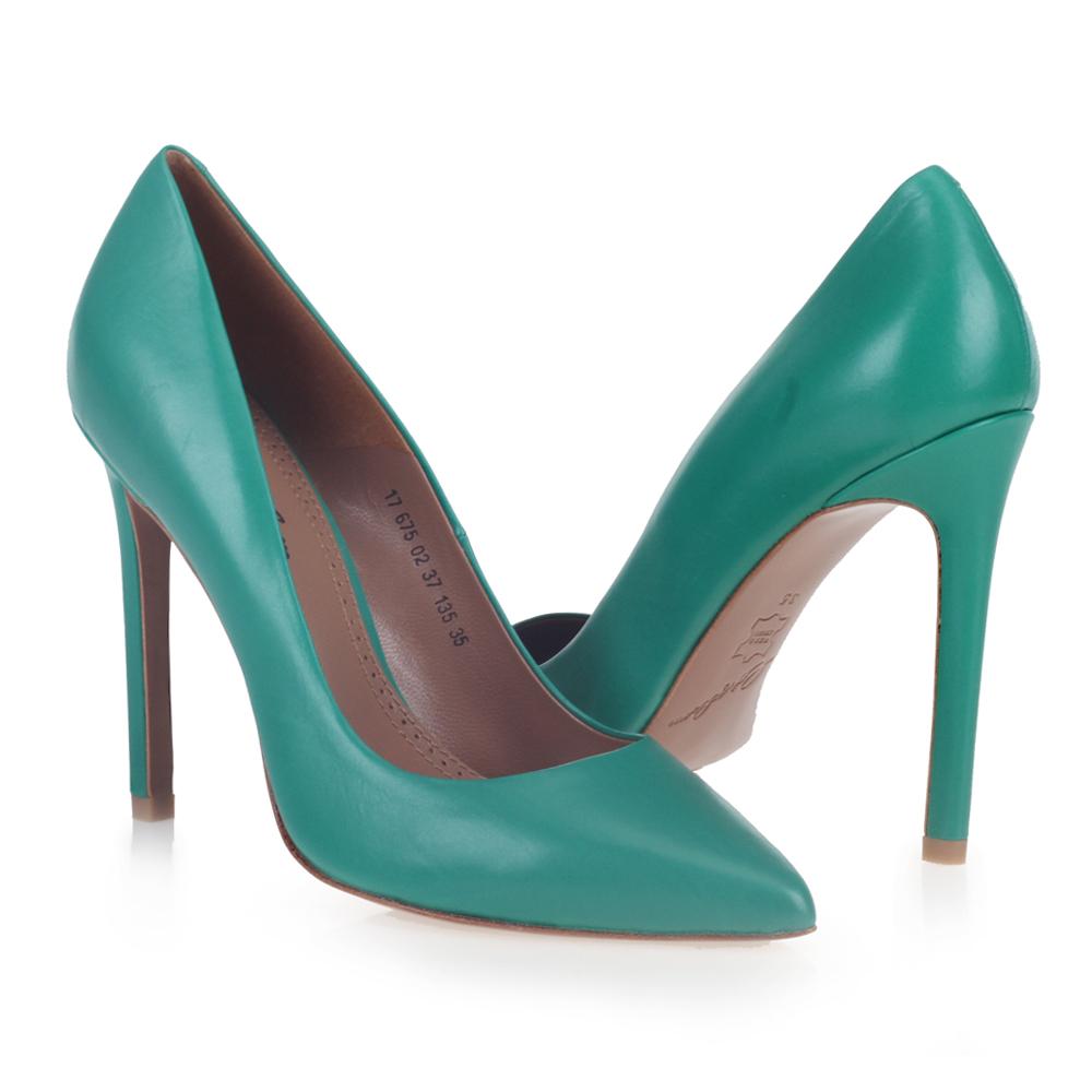 Туфли на каблуке CorsoComo (Корсо Комо) Классические лодочки цвета морской волны
