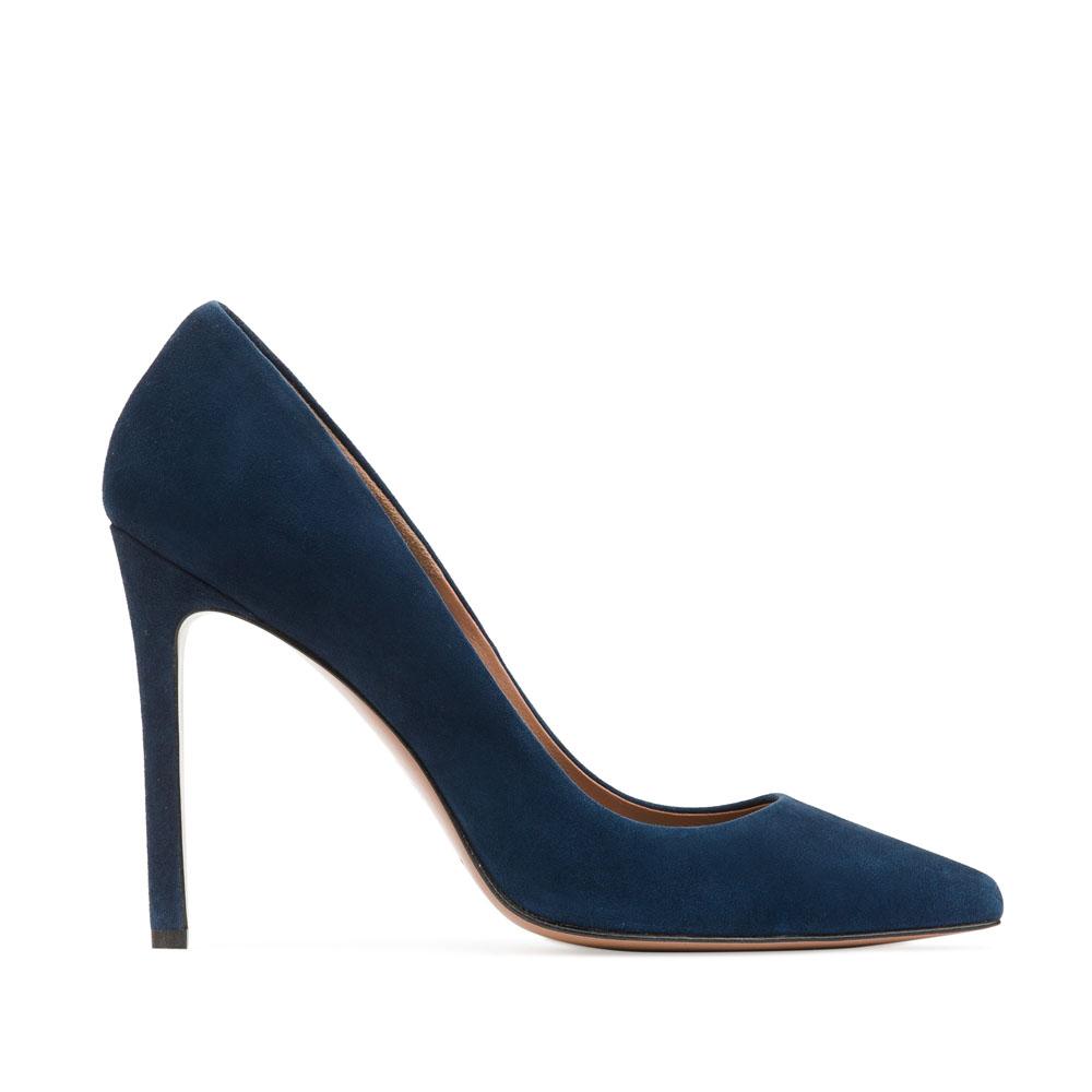 CORSOCOMO Замшевые туфли-лодочки цвета темного моря 17-675-02-37-145