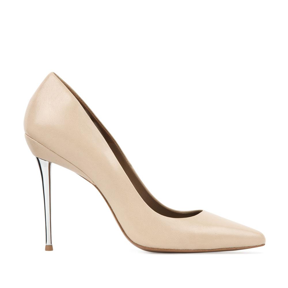 CORSOCOMO Кожаные туфли-лодочки цвета слоновой кости на металлическом каблуке 17-675-37-75G7