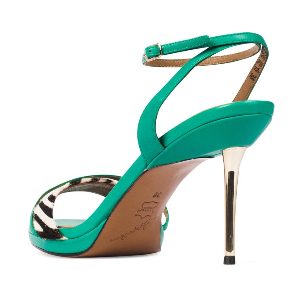 Женские босоножки CorsoComo (Корсо Комо) 17-690-02-15 к.п. Туфли жен кожа зелен.
