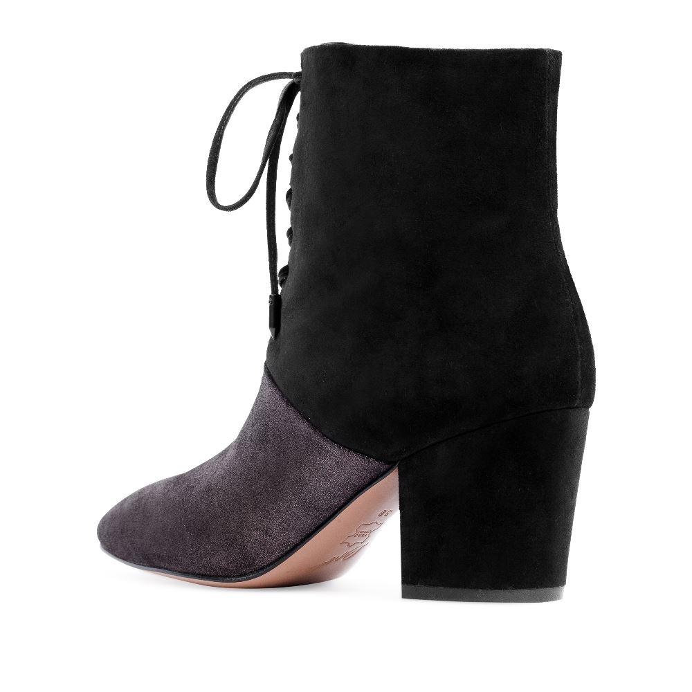 Женские ботинки CorsoComo (Корсо Комо) Ботинки из замши и металлизированной кожи на среднем каблуке