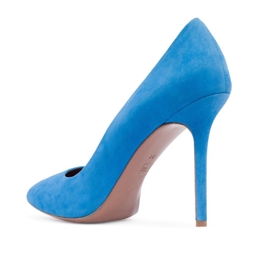 Туфли на каблуке CorsoComo (Корсо Комо) 17-925-01-01-315 к.п. Туфли жен велюр син.
