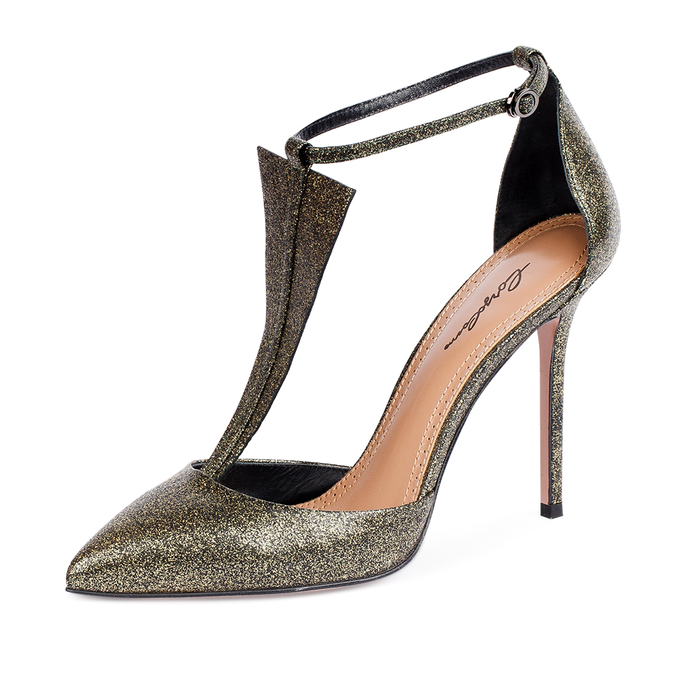 Туфли на каблуке CorsoComo (Корсо Комо) 17-925-01-09-85 к.п. Туфли жен кожа золот.