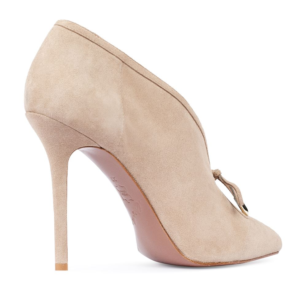 Туфли на каблуке CorsoComo (Корсо Комо) 17-926-01-33-25 без п. Туфли жен велюр беж.