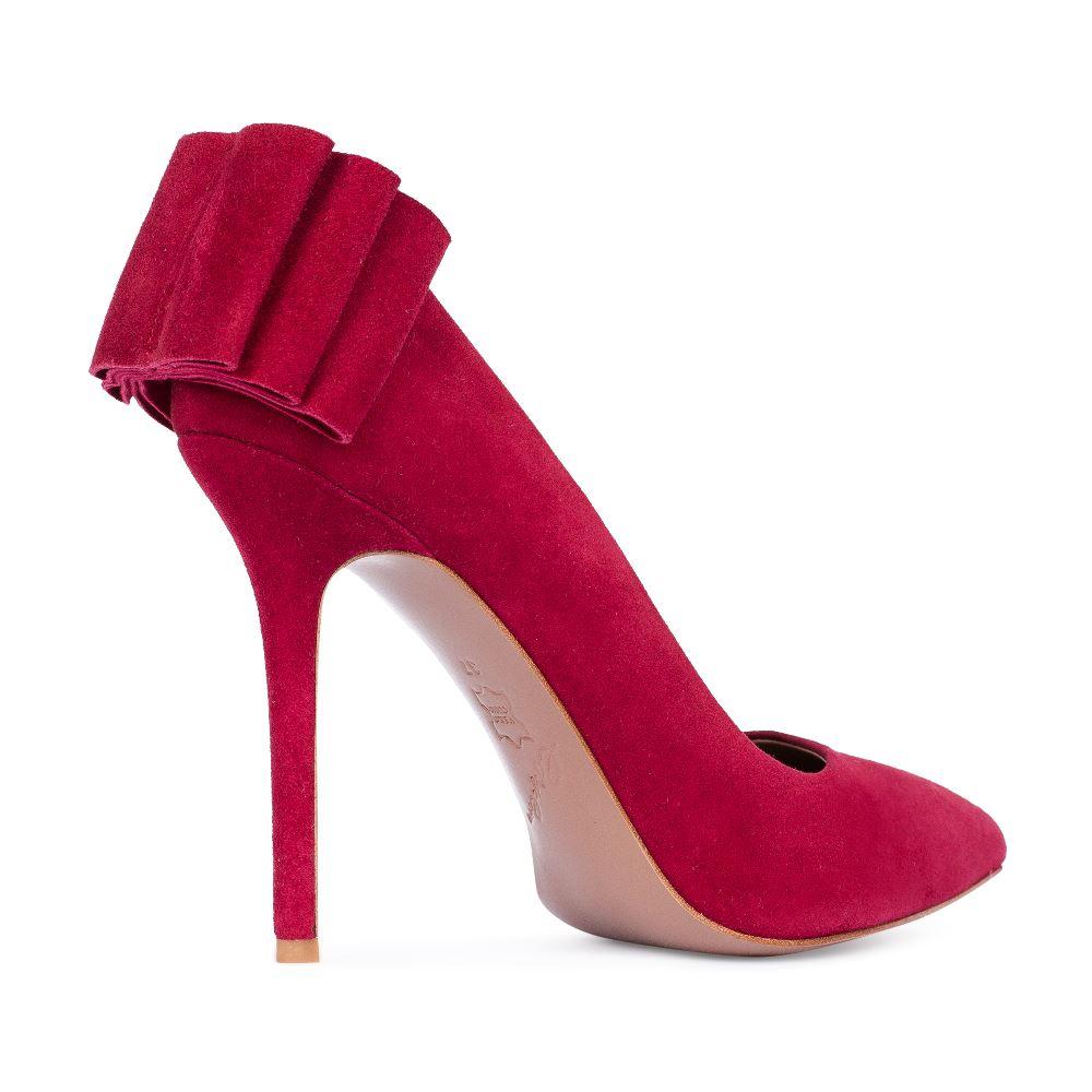 Туфли на каблуке CorsoComo (Корсо Комо) Туфли из замши бордового цвета