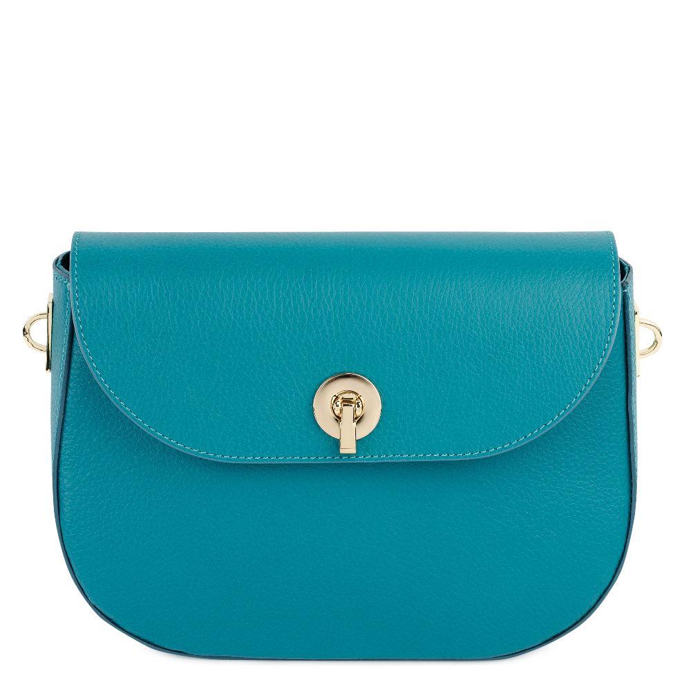 DEBORO Кожаная сумка бирюзового цвета 176-3098-5