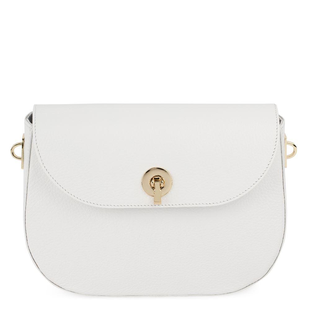 DEBORO Кожаная сумка белого цвета 176-3098-6