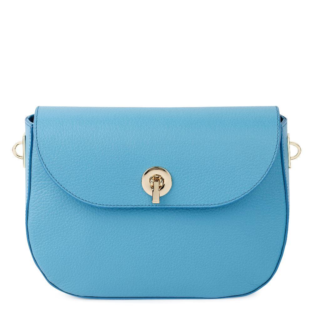 DEBORO Кожаная сумка голубого цвета 176-3098-7