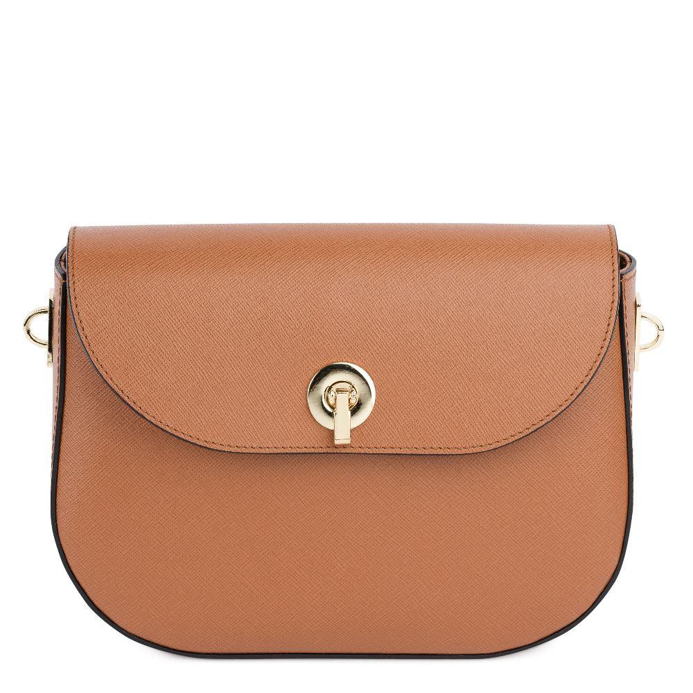 DEBORO Кожаная сумка коричневого цвета 176-3098-8
