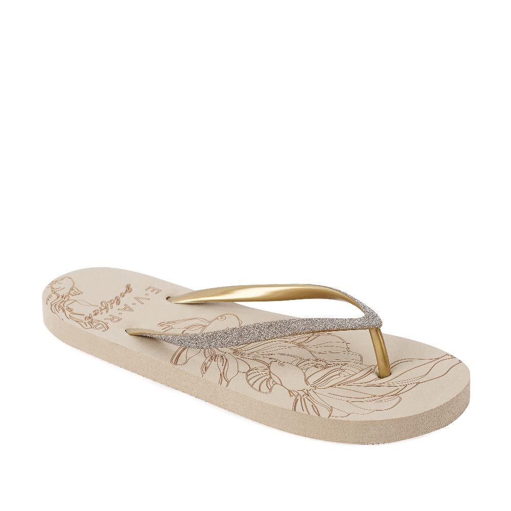 Женские сандалии CorsoComo (Корсо Комо) Сланцы женские GOLDFISH (в ассортименте, Песочный/золото)