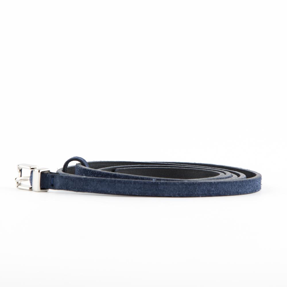 Ремень CorsoComo (Корсо Комо) Ремень из замши синего цвета
