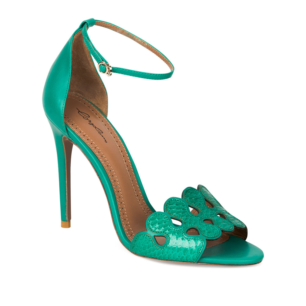 Женские босоножки CorsoComo (Корсо Комо) 19-350-1-79-35 к.п. Туфли жен кожа зелен.