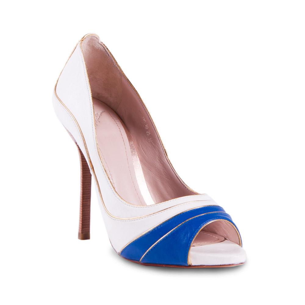 Туфли на каблуке CorsoComo (Корсо Комо) 19-390-10-35 к.п. Туфли жен кожа бел.
