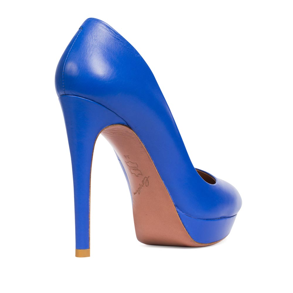 Туфли на каблуке CorsoComo (Корсо Комо) 19-390-16-415 к.п. Туфли жен кожа син.