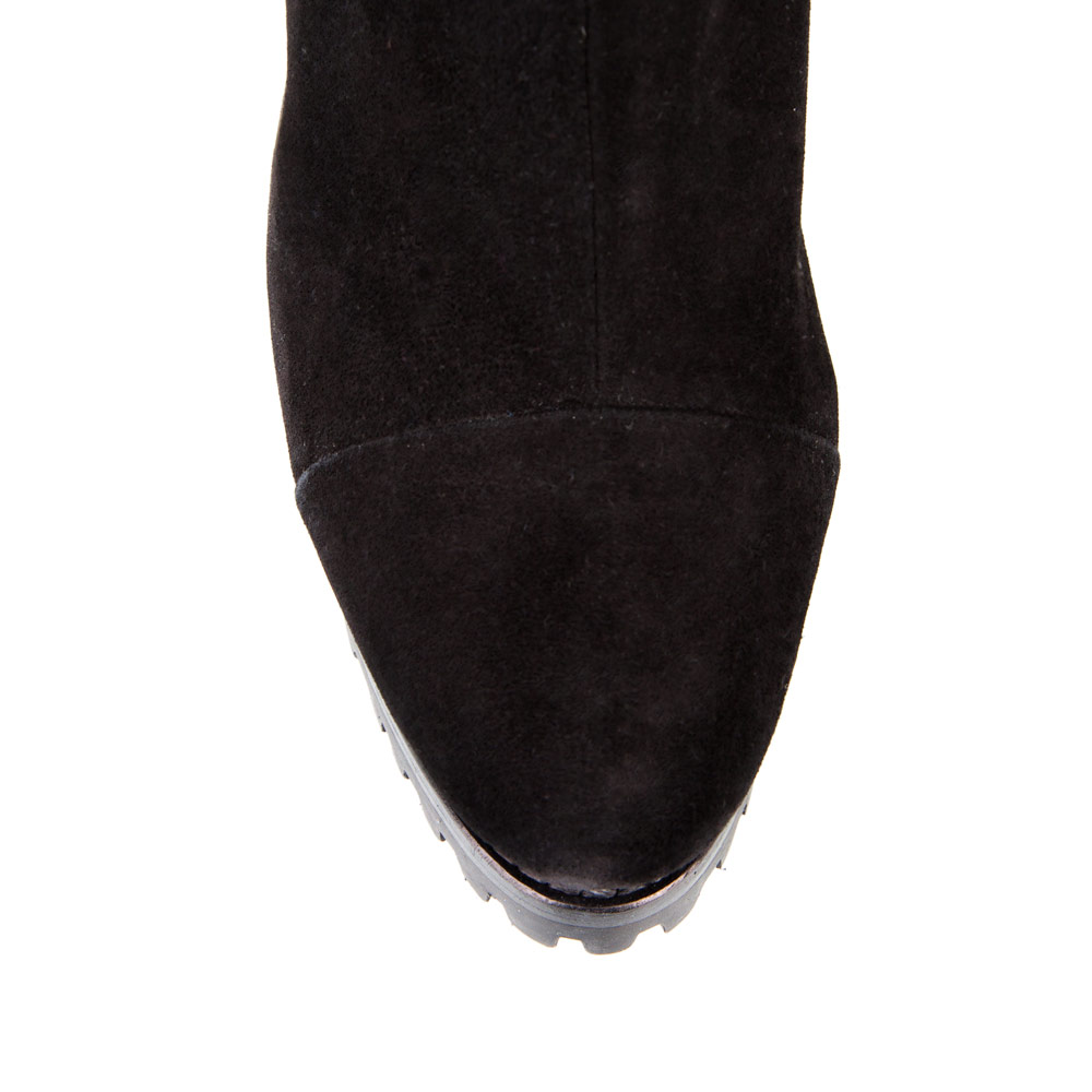 Сапоги на каблуке CorsoComo (Корсо Комо) 19-432-1601-25 к.п. Сапоги жен велюр черн.