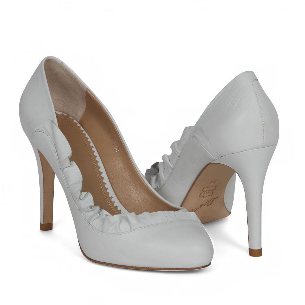 Туфли на каблуке CorsoComo (Корсо Комо) 19-565-3-35 к.п. Туфли жен кожа бел.