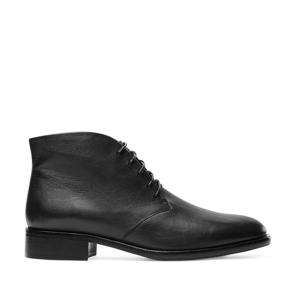 Ботинки-чукка из мягкой кожи черного цвета