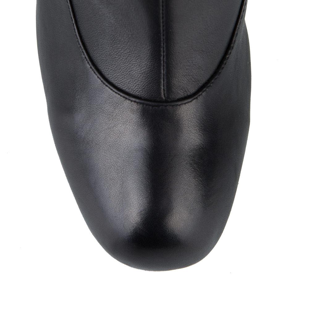 Сапоги на каблуке CorsoComo (Корсо Комо) 19-623-1201-11 т.п. Сапоги жен кожа черн.