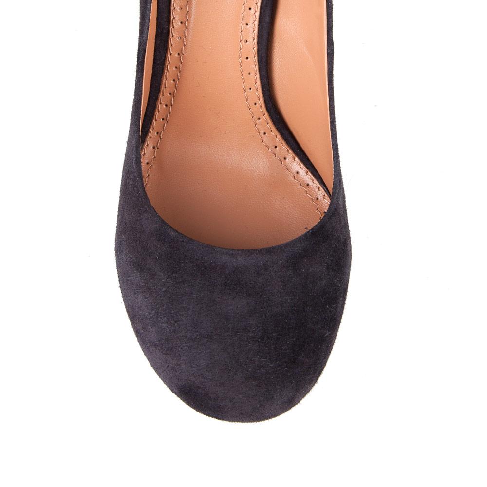 Женские туфли CorsoComo (Корсо Комо) Туфли из замши черничного цвета на среднем каблуке