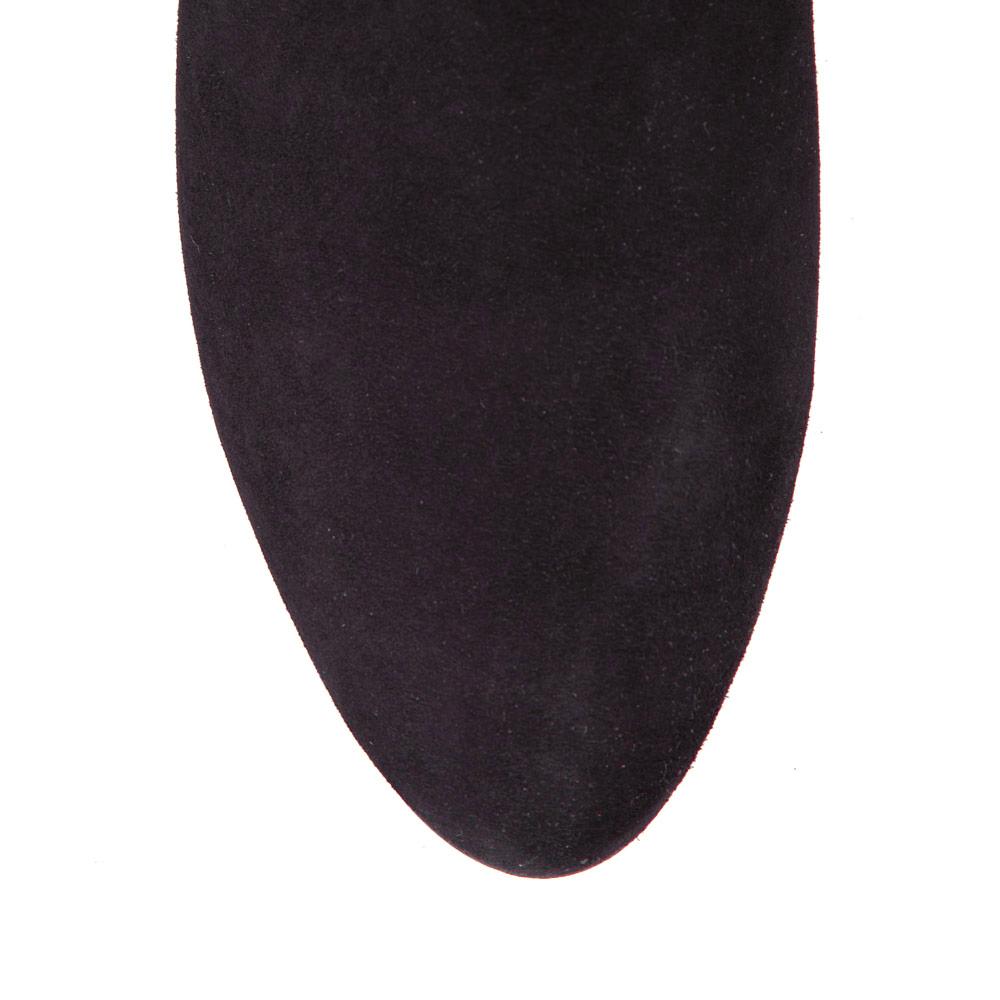 Полусапоги CorsoComo (Корсо Комо) Полусапоги из замши черничного цвета с бахромой на среднем каблуке