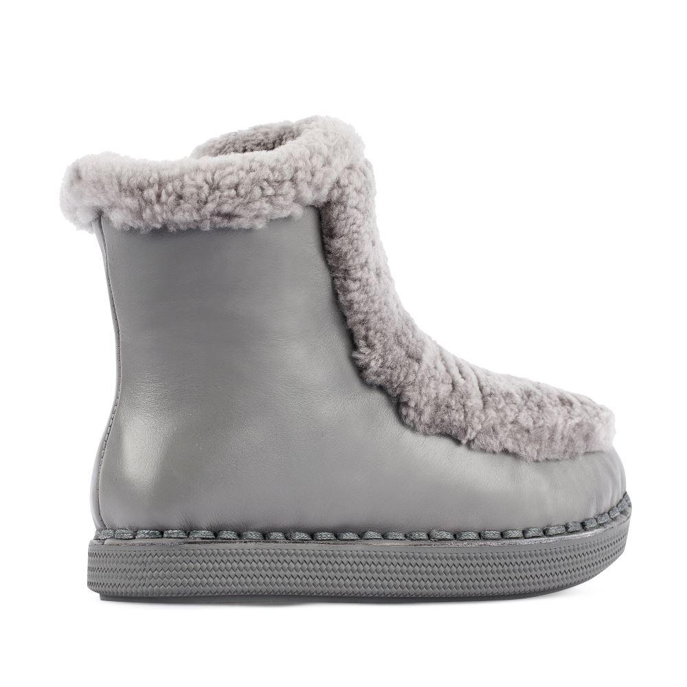 Женские ботинки CorsoComo (Корсо Комо) 21-6-8622M-2-1 Мех Полусапоги жен велюр. сер.