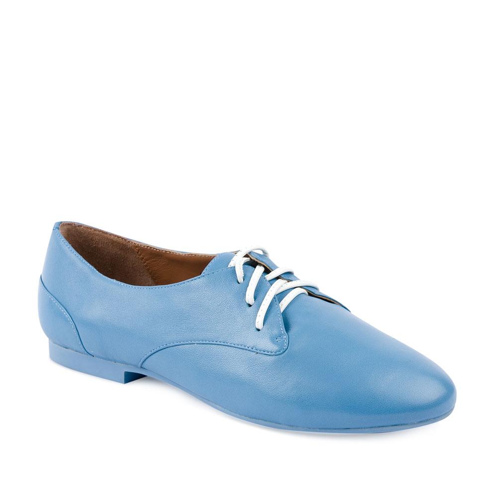 Женские ботинки CorsoComo (Корсо Комо) Кожаные полуботинки небесно-голубого цвета