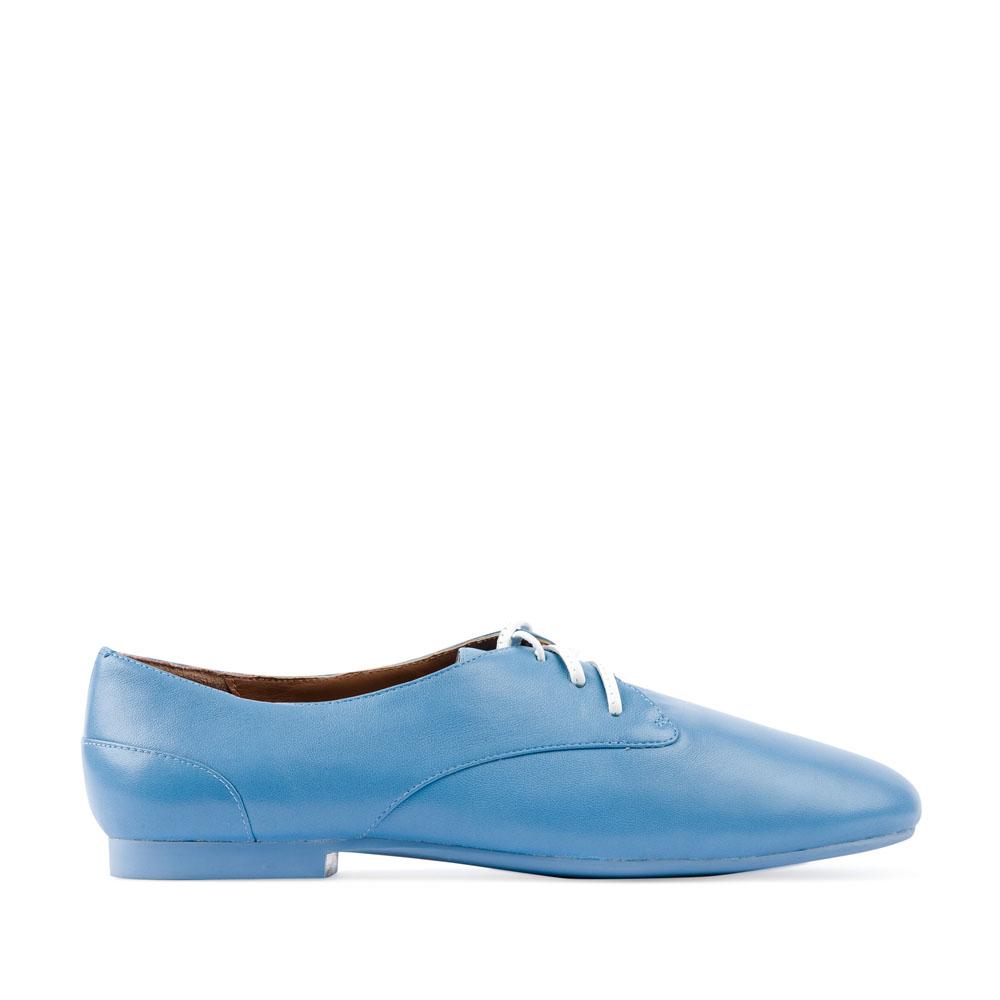 Кожаные полуботинки небесно-голубого цвета
