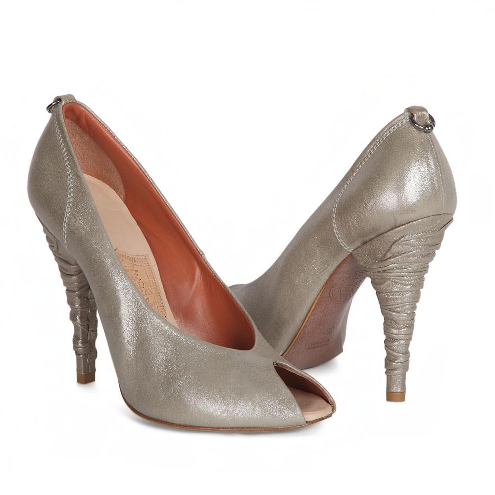 Туфли на каблуке CorsoComo (Корсо Комо) 30-010-1 к.п. Туфли жен кожа серебр.