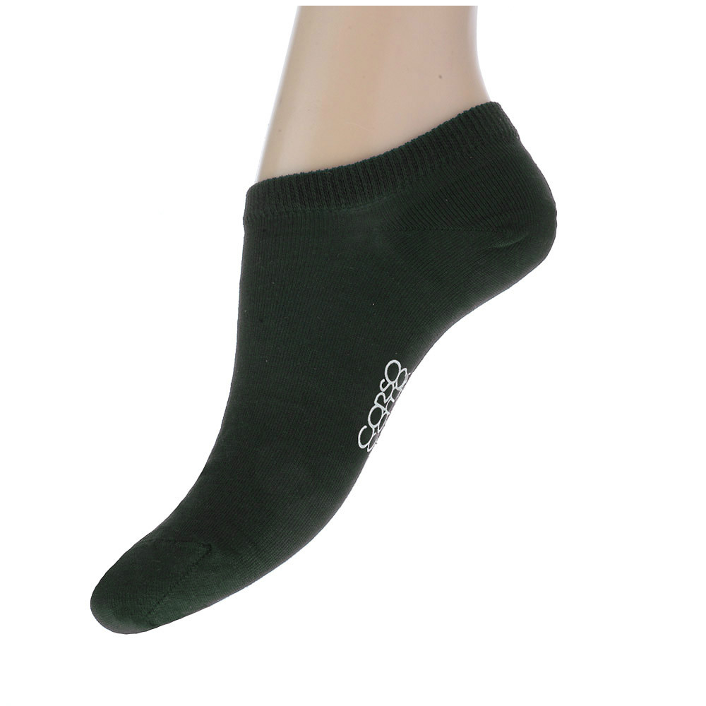 Женские носки CorsoComo (Корсо Комо) Короткие носки темно-зеленого цвета
