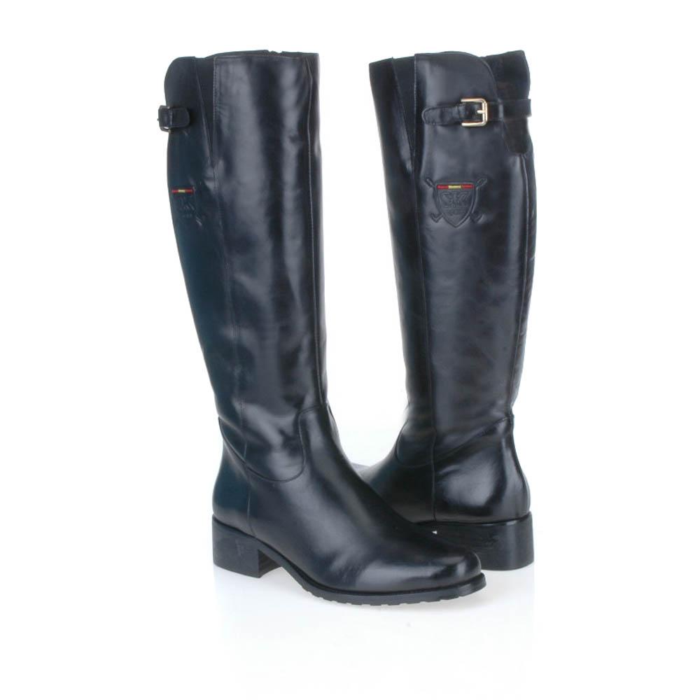 Сапоги на каблуке CorsoComo (Корсо Комо) 36-6415-2 мех Сапоги женские, CC_VL-6415_Crust_Negro, чёрный, на