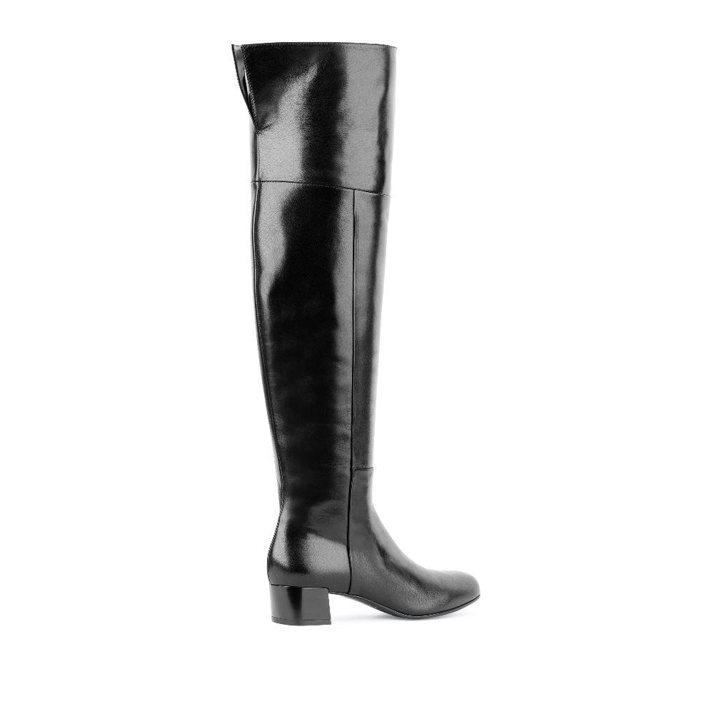 Сапоги на каблуке CorsoComo (Корсо Комо) 4451813 т.п. Сапоги жен кожа черн.