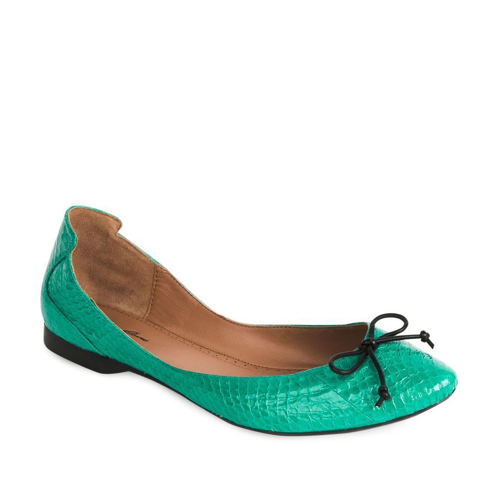 Женские балетки CorsoComo (Корсо Комо) 50-124-111655 к.п. Туфли жен кожа зелен.